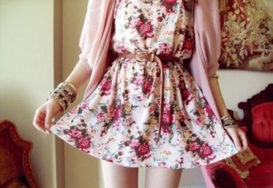Cute-High-Low-Floral-Dress